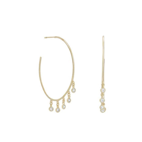 Dangle CZ Hoops