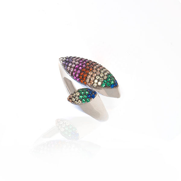 Oval Rainbow Ring