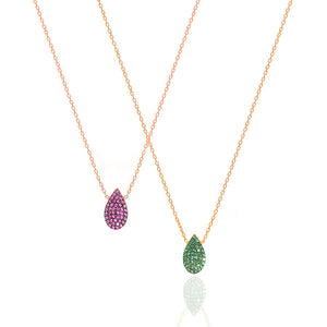 Tear Drop Color Necklace