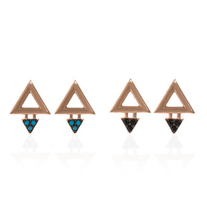 Small Triangle Dangle Earring