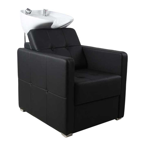 Dakota Back Wash Unit Black with White Basin