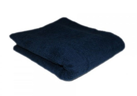 HAIR TOOLS HAIRDRESSING TOWELS - NAVY BLUE (12)