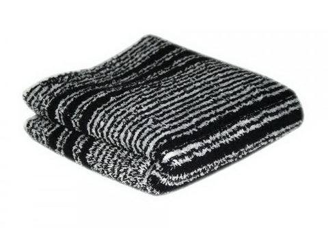 HAIR TOOLS HAIRDRESSING TOWELS - BLACK & WHITE (12)