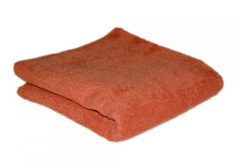 HAIR TOOLS HAIRDRESSING TOWELS - TERRACOTTA (12)