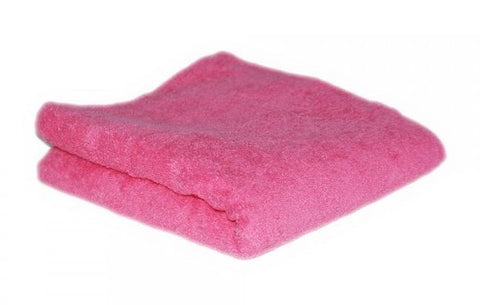 HAIR TOOLS HAIRDRESSING TOWELS - ROSE PINK (12)