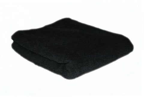 HAIR TOOLS HAIRDRESSING TOWELS - BLACK (12)