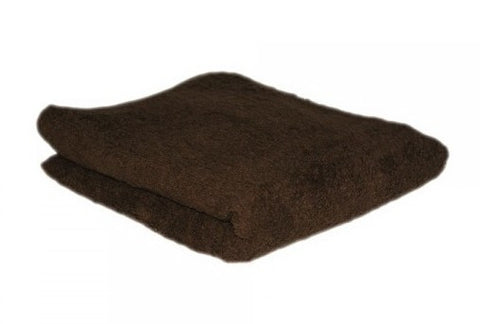 HAIR TOOLS HAIRDRESSING TOWELS - CHOCOLATE (12)