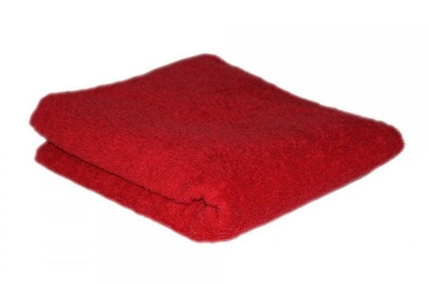 HAIR TOOLS HAIRDRESSING TOWELS - RAUNCHY RED (12)