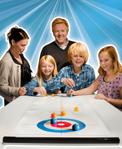 Tabletop Curling Olympics