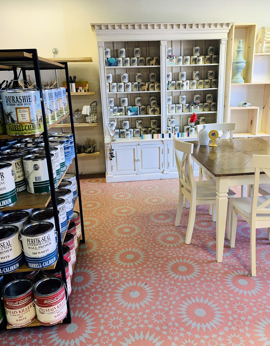 Pigment painting services for Charlottesville and our store front location, selling paint, paint supplies, brushes, good bones paint, for home improvement and DIY projects.