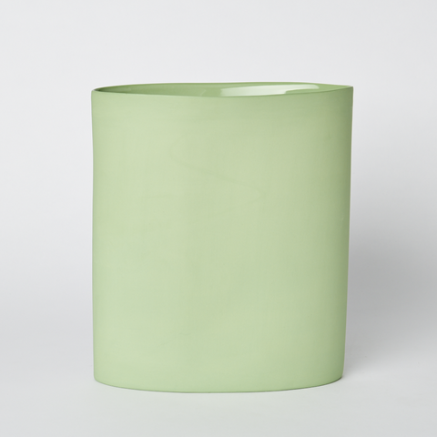 MUD Oval Vase Large - Wasabi