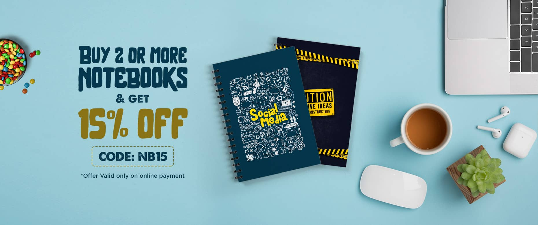Offer 15% Off on Notebooks