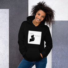 "Load image into Gallery viewer, Unisex Hoodie - ""Art Heals"" by Rebwar"