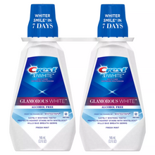 Load image into Gallery viewer, Crest 3D White Glamorous White Alcohol Free Whitening Mouthwash, Fresh Mint (32 fl. oz., 2 pk.)