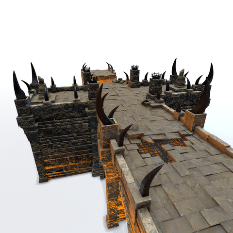 Celestial forces made an effort to collapse this fortified bridge. Although badly damaged, a powerful enchantment still holds it together - for now.