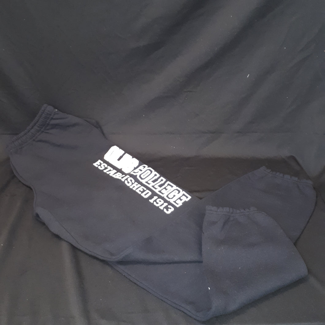 Sweatpants Russell w/Pocket and Closed Bottom Black