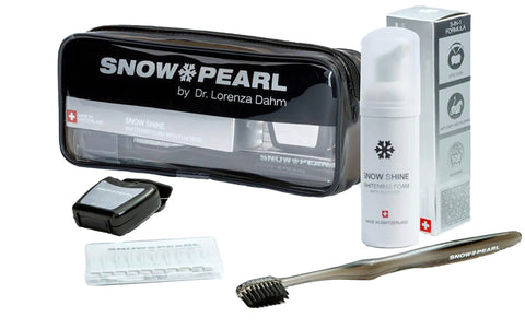TRAVEL KIT SCHWARZ MIT SNOW SHINE WHITENING FOAM