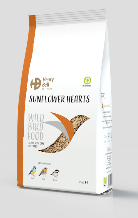 Henry Bell Bird Feed Henry Bell Sunflower Hearts 2KG