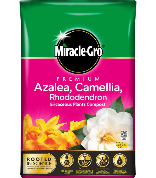 Miracle-Gro Compost Miracle-Gro Premium Azalea, Camellia & Rhododendron Ericaceous Compost 40 Litres