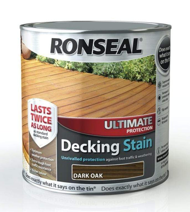 Ronseal Decking Stain Ronseal Ultimate Protection Decking Stain Dark Oak 2.5L