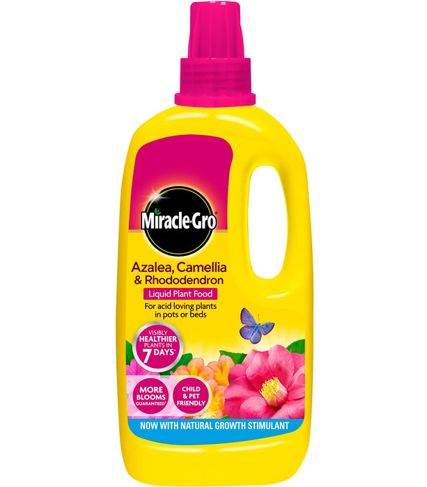 Miracle-Gro Ericaceous Plant Food Miracle-Gro Azalea, Camellia & Rhododendron Concentrated Liquid Plant Food 1 litre