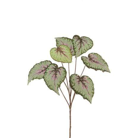 Floral Silk Foliage Begonia Leaf Spray 60cm