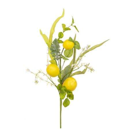 Floral Silk Foliage Lemon Foliage Pick 46cm