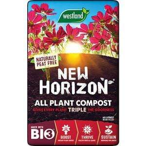 Westland Peat Free New Horizon Peat Free Compost 50L New Horizon Peat Free Compost 50L | Windlebridge Garden Nursery
