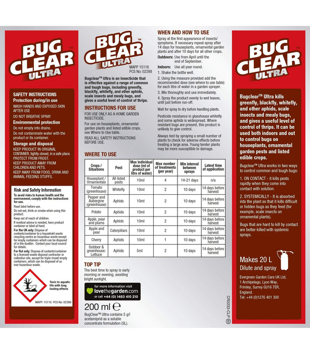 Clear Pest Control BugClear™ Ultra 200ml Concentrate