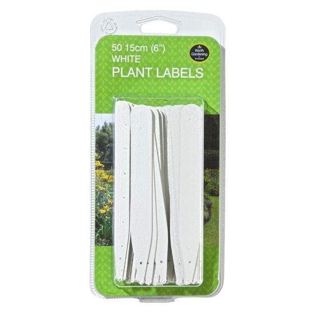 Garland Plant Labels Garland 15cm White Plant Labels 50 pack