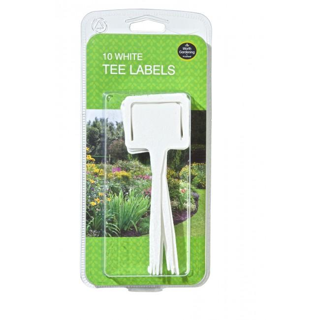 Garland Plant Labels Garland White Tee Labels 10 Pack