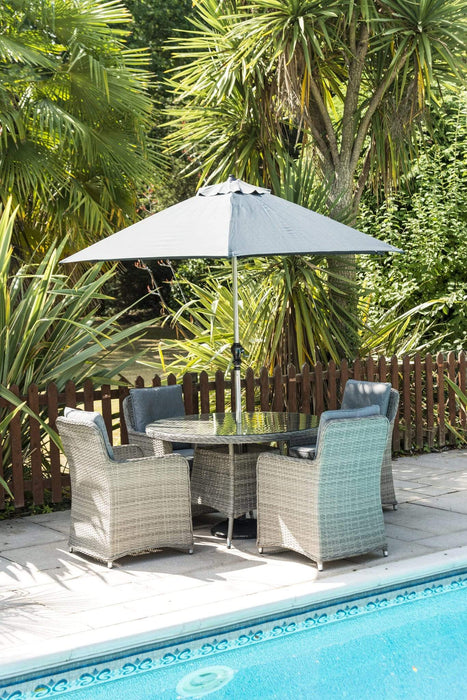 Katie Blake Rattan Furniture Katie Blake 4 Seat Milan Dining Set Inc Parasol And Base