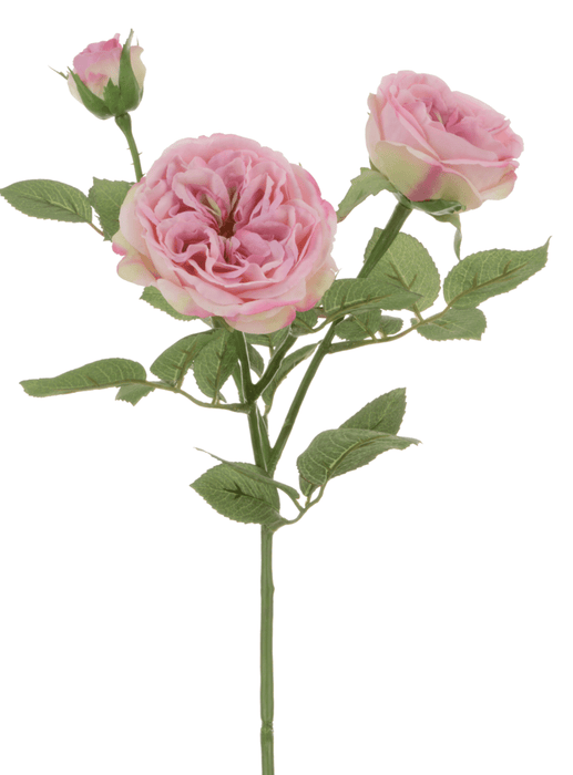 Floral Silk Roses Pink Spray Rose 61cm