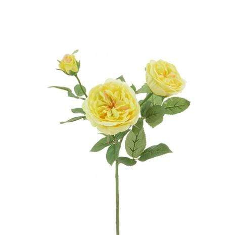Floral Silk Roses Yellow Spray Rose 61cm