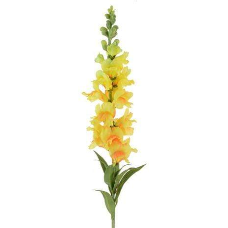 Floral Silk Snap Dragon Yellow Snap Dragon Stem 93cm
