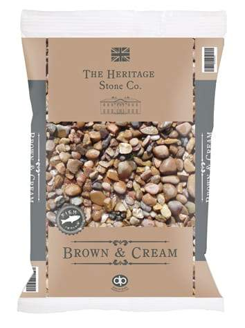 Deco Pak Stones Brown & Cream 20kg Bag