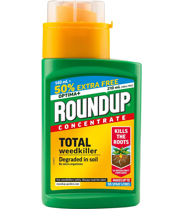 Roundup Weed Killer Roundup Optima+ 210ml 50% Extra Free Concentrate