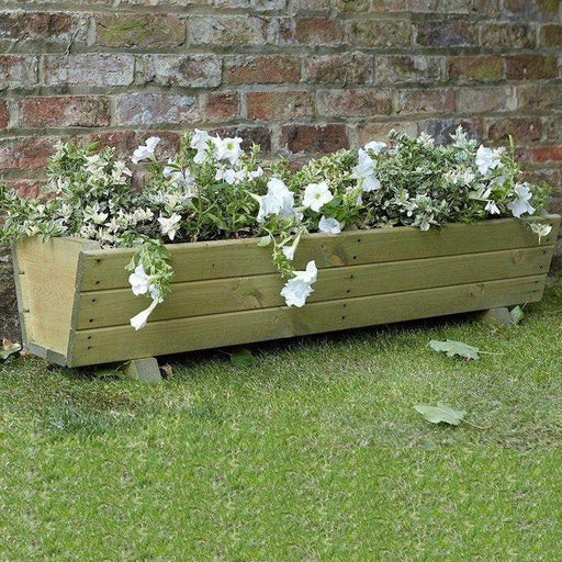 Tom Chambers Wooden Planter Tom Chambers Harlow Trough Planter