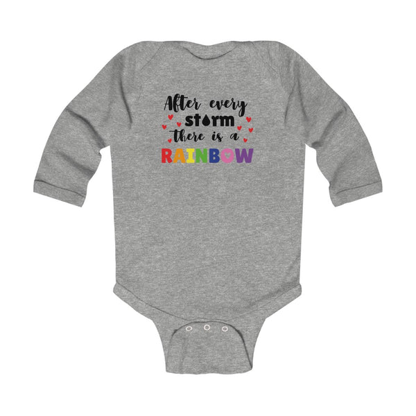 Rainbow after a storm - Infant Long Sleeve Bodysuit Onesie - Blair's Bounty - Girl Gone Crafty