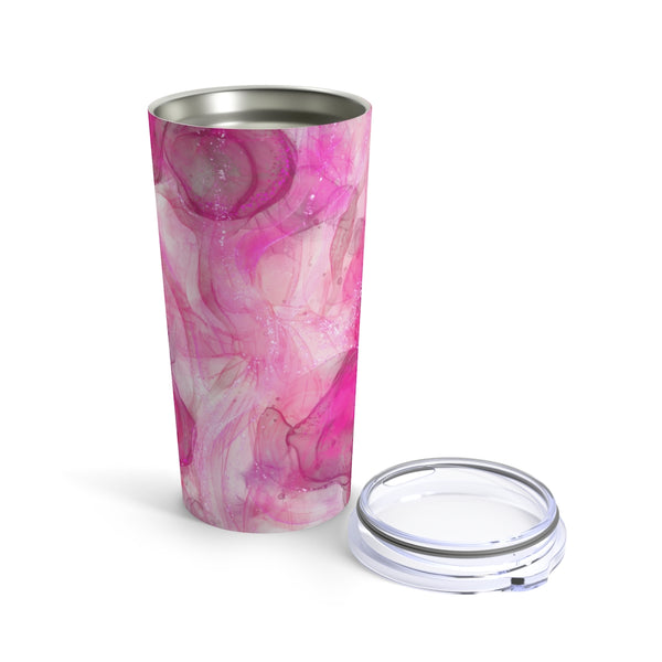 Pink marble - Tumbler 20oz - Blair's Bounty - Girl Gone Crafty