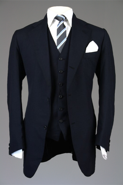 vintage southwick navy wool 32 button roll 3 piece suit