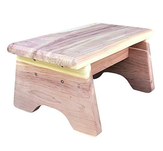 Superb Vundahboah Amish Goods Cedar Wood One Step Curved Stool Dailytribune Chair Design For Home Dailytribuneorg
