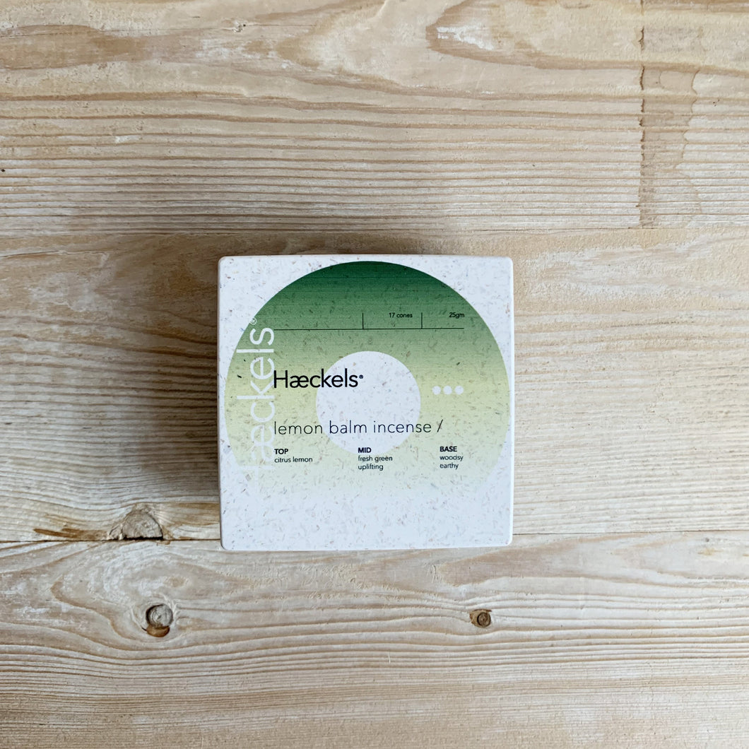 Haeckels Incense Cones - Lemon Balm