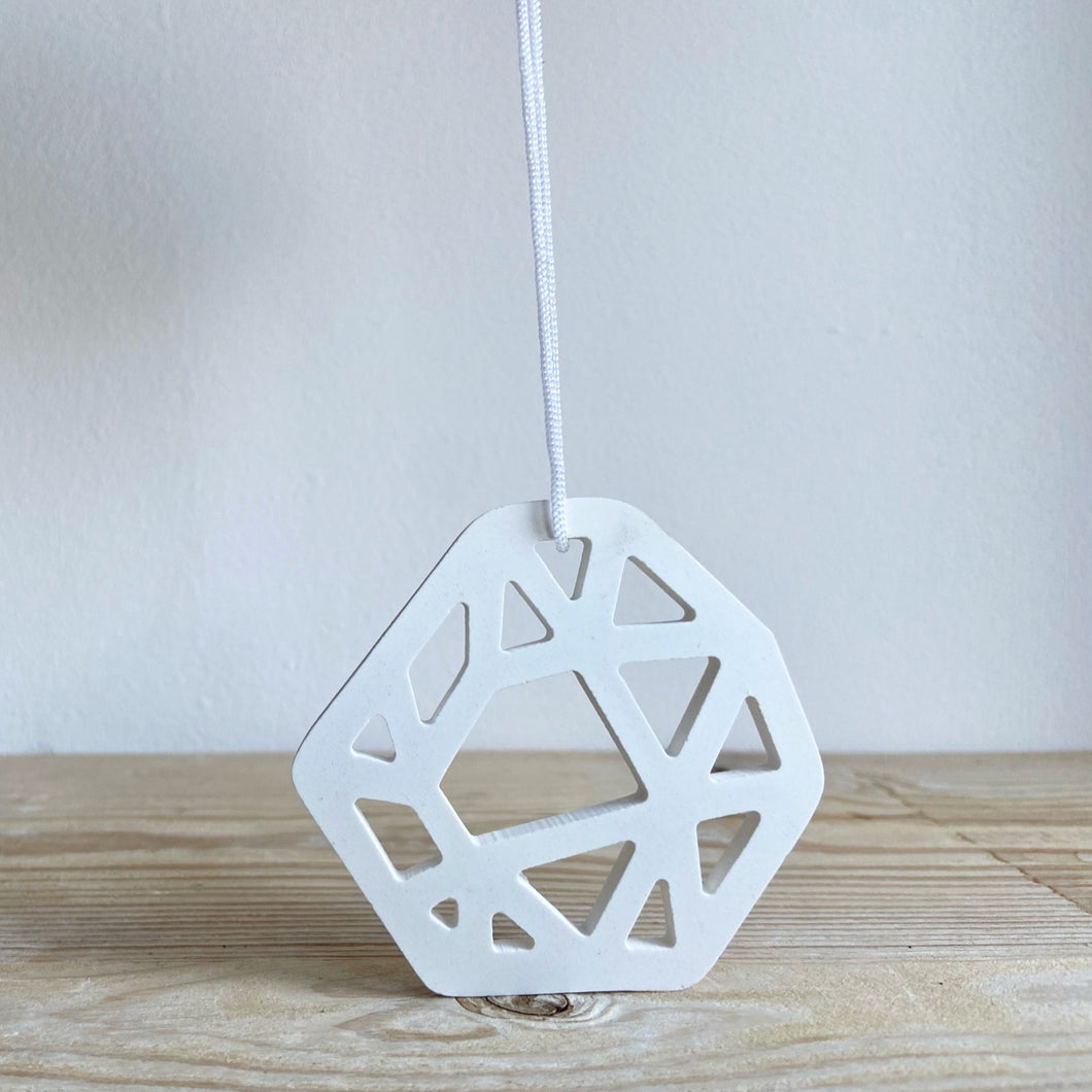 Hand Crafted Hexagonal Ceramic Decoration