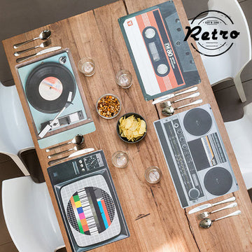 Table Mat HiFi Retro (Pack of 4)