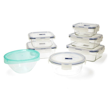 Set of lunch boxes Luminarc Pure Box Active (7 pcs) Crystal 43 x 32 x 18 cm