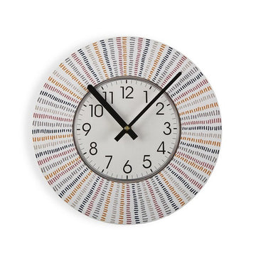 Wall Clock Corduroy Wood (4 x 29 x 29 cm)