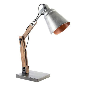 Desk Lamp Dekodonia Wood Metal Loft (16 x 16 x 52 cm)