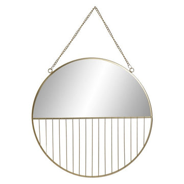 Wall mirror Dekodonia Golden Metal (37 x 4 x 37 cm)