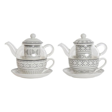 Toy Tea Set Dekodonia Crystal Porcelain African Man (250 ml) (2 pcs)